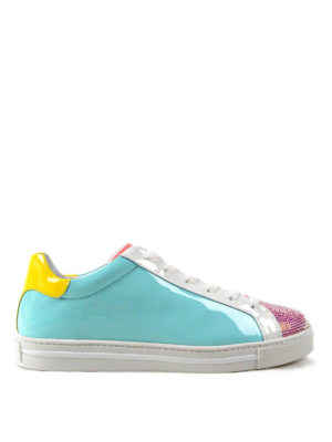 Rene Caovilla: trainers - Crystal embellished patent sneakers