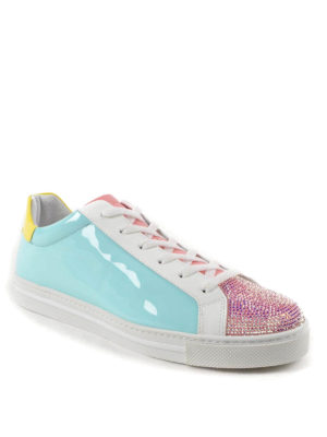 Rene Caovilla: trainers online - Crystal embellished patent sneakers