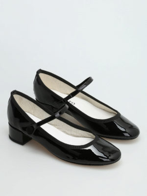 Repetto: flat shoes online - Rose patent Mary Jane shoes