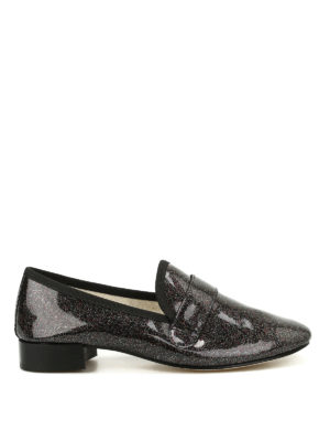 Repetto: Loafers & Slippers - Michael glittered loafers