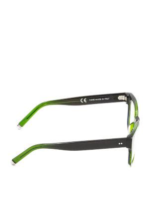 Retrosuperfuture: glasses online - Numero 8 1/2 green acetate glasses