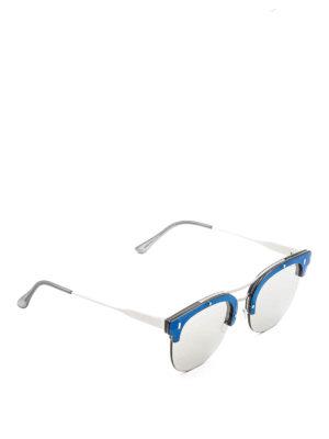 Retrosuperfuture: sunglasses - Strada half-frame ivory sunglasses
