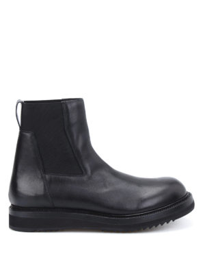 Rick Owens: ankle boots - Creeper elastic leather booties
