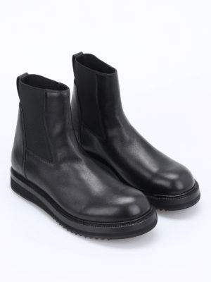 Rick Owens: ankle boots online - Creeper elastic leather booties