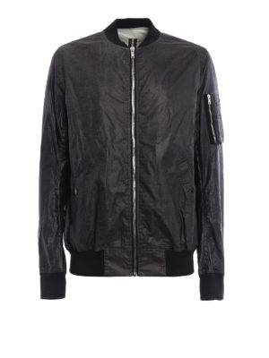 Rick Owens: bombers - Flight coated cotton bomber