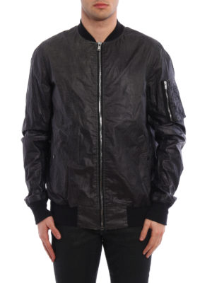 Rick Owens: bombers online - Flight coated cotton bomber