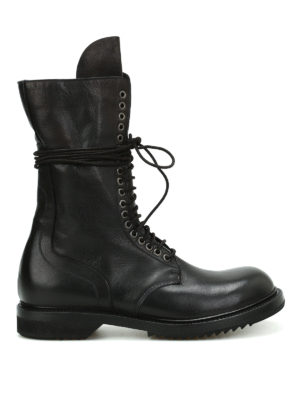 Rick Owens: boots - Army leather booties