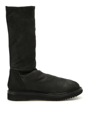 Rick Owens: boots - Creeper Sock leather boots