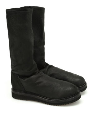 Rick Owens: boots online - Creeper Sock leather boots