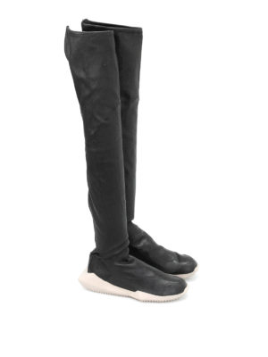 Rick Owens: boots online - Stretch leather futuristic boots
