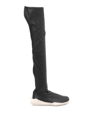 Rick Owens: boots - Stretch leather futuristic boots