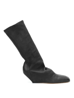 Rick Owens: boots - Stretch leg leather boots