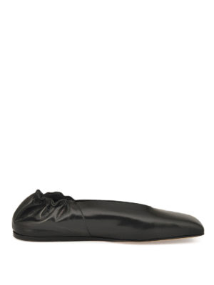 Rick Owens: flat shoes - Geo leather ballerinas