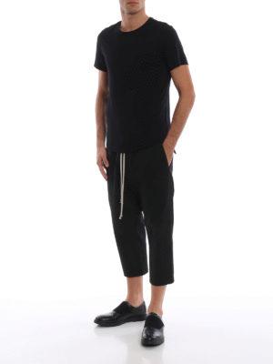 RICK OWENS HUN: pantaloni casual online - Pantaloni in tessuto rigiro con coulisse