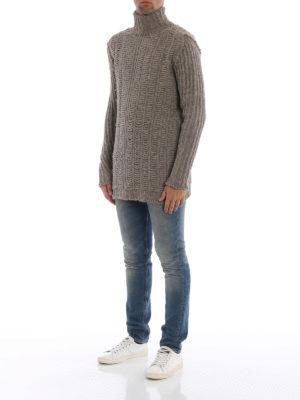 RICK OWENS HUN: maglia a collo alto e polo online - Girocollo in spessa lana di yak
