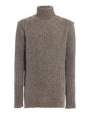 RICK OWENS HUN: maglia a collo alto e polo - Girocollo in spessa lana di yak