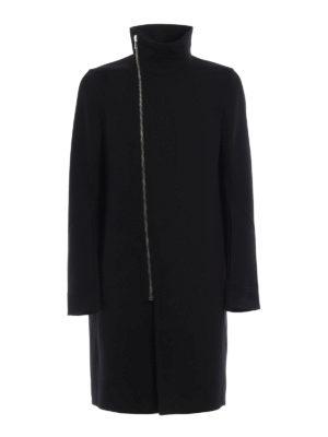Rick Owens: knee length coats - Tubeway wool blend coat