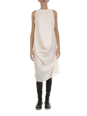 Rick Owens: knee length dresses online - Silk and wool tunic dress