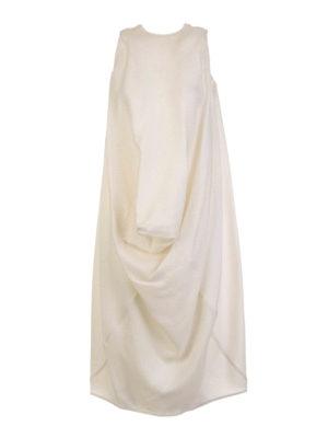 Rick Owens: knee length dresses - Silk and wool tunic dress