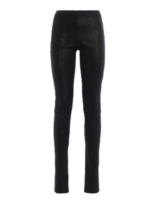 Rick Owens: leather trousers - Shimmering leather leggings