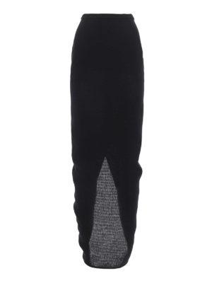 Rick Owens: Long skirts - Linen pillar skirt