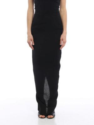 Rick Owens: Long skirts online - Linen pillar skirt