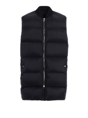 Rick Owens: padded coats - Cashmere detailed  padded vest