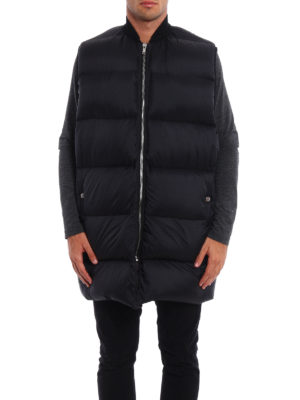 Rick Owens: padded coats online - Cashmere detailed  padded vest