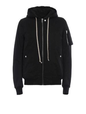 Rick Owens: padded jackets - Hooded flight bomber jacket