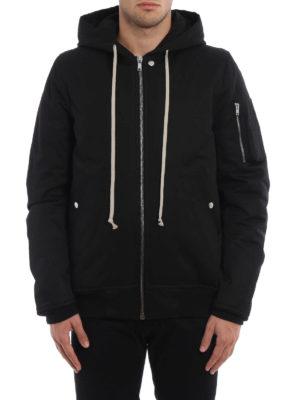 Rick Owens: padded jackets online - Hooded flight bomber jacket