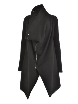 Rick Owens: short coats - Cashmere zipped coat