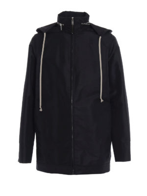 Rick Owens: short coats - Dirt vintage fabric windbreaker