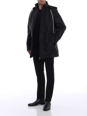 Rick Owens: short coats online - Dirt vintage fabric windbreaker