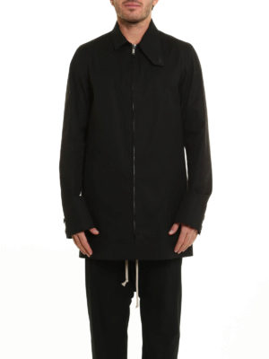 Rick Owens: short coats online - Zipped cotton short coat