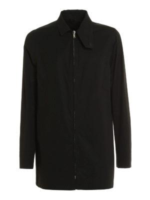 Rick Owens: short coats - Zipped cotton short coat