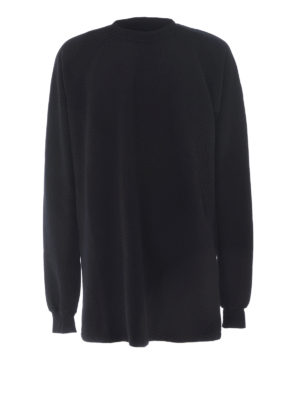Rick Owens: Sweatshirts & Sweaters - Cotton extra long sweatshirt