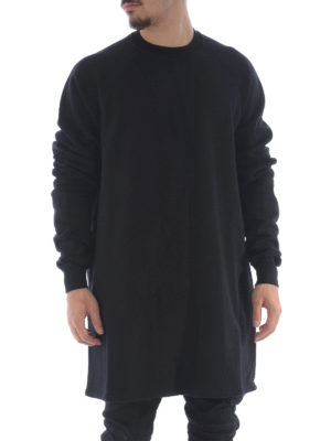 Rick Owens: Sweatshirts & Sweaters online - Cotton extra long sweatshirt
