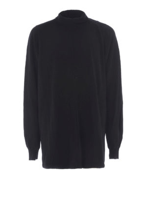 Rick Owens: t-shirts - Cotton turtle neck long T-shirt