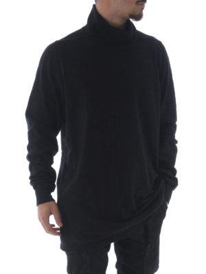 Rick Owens: t-shirts online - Cotton turtle neck long T-shirt