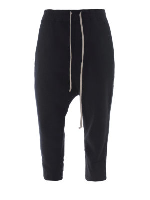 Rick Owens: tracksuit bottoms - Low crotch cotton tracksuit bottoms