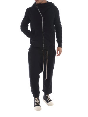 Rick Owens: tracksuit bottoms online - Low crotch cotton tracksuit bottoms