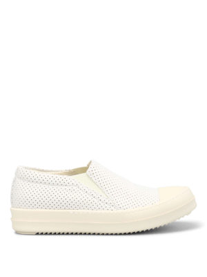 Rick Owens: trainers - Drilled fabric slip-ons