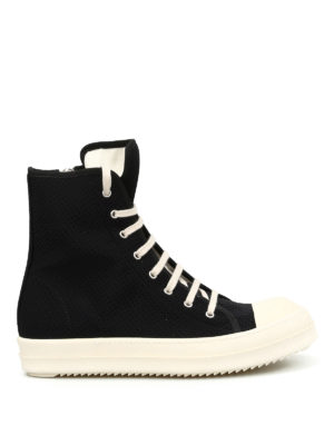 Rick Owens: trainers - DRKSHDW canvas high top sneakers