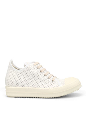 Rick Owens: trainers - DRKSHDW drilled canvas sneakers