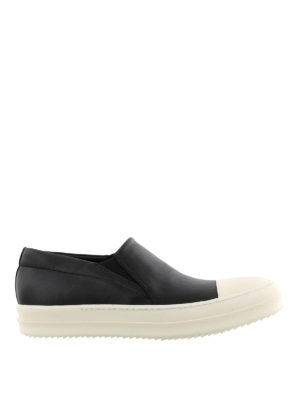 Rick Owens: trainers - Leather lace-less sneakers