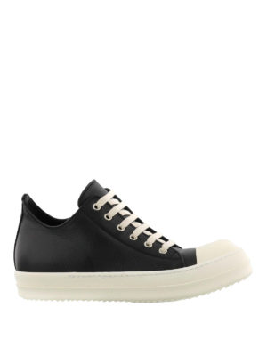 Rick Owens: trainers - Leather toe-cap sneakers
