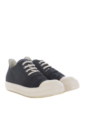 Rick Owens: trainers online - Canvas nylon and leather sneakers