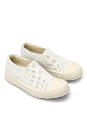 Rick Owens: trainers online - Drilled fabric slip-ons