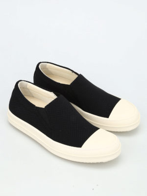 Rick Owens: trainers online - DRKSHDW drilled canvas slip-ons