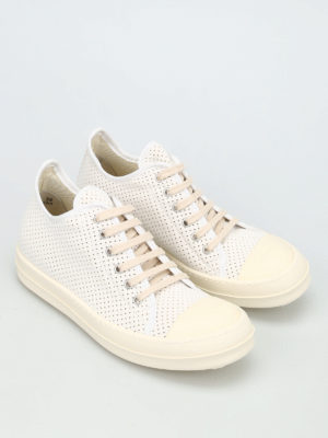 Rick Owens: trainers online - DRKSHDW drilled canvas sneakers